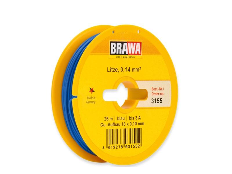 Schaltlitze 0,14 mm², 25 m Spule, blau