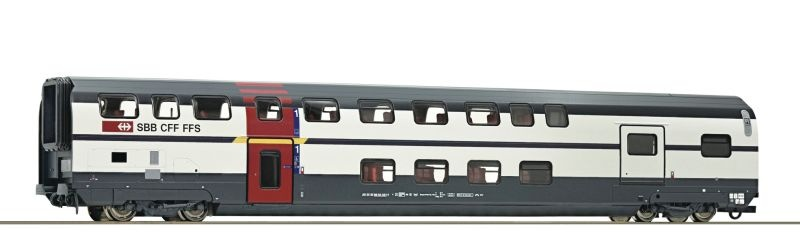 Doppelstockwagen 1. Klasse mit Gepäckabteil der SBB, DC, H0