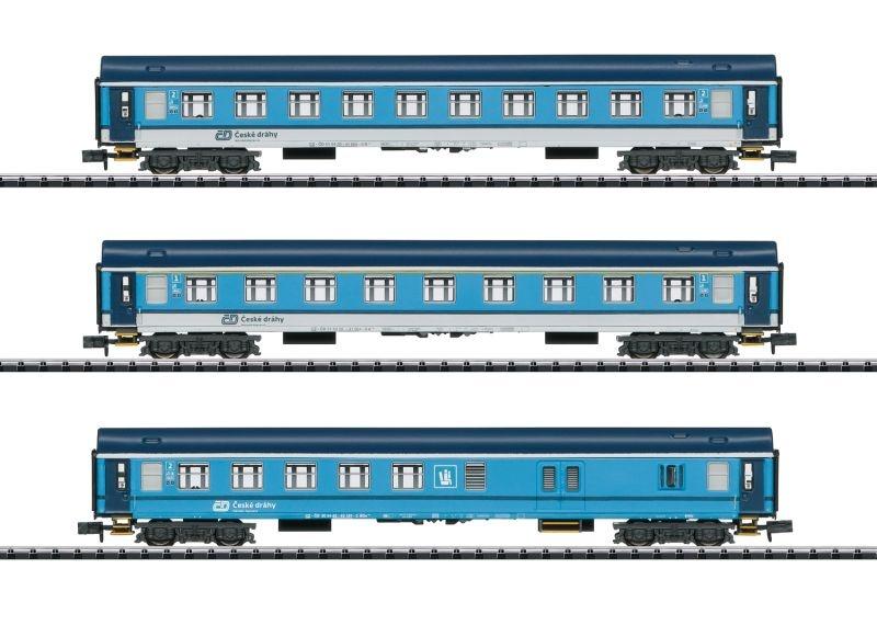 Schnellzugwagen-Set Bauart UIC-Y der CD, Minitrix Spur N