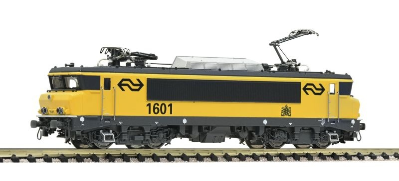Elektrolokomotive 1601 der NS, gelb/grau, Spur N