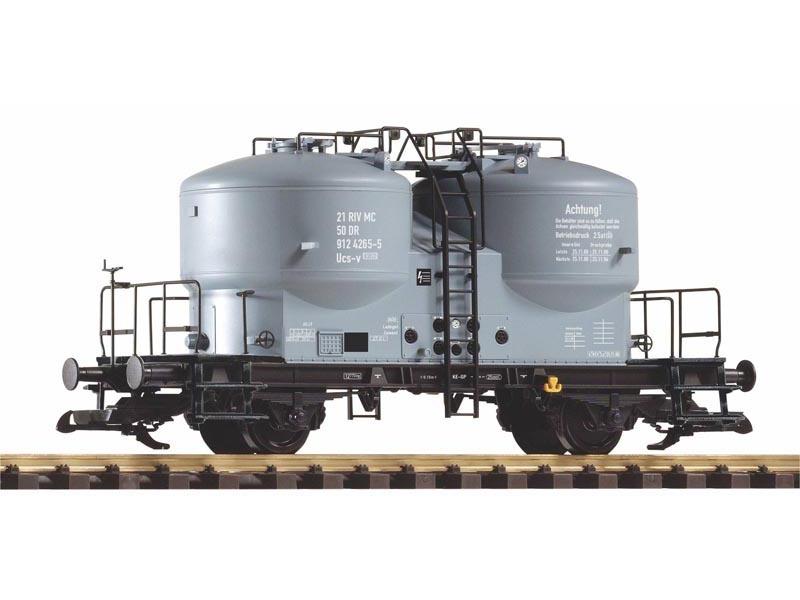Zementsilowagen DR IV mit schwarzem Rahmen, DR, IV, Spur G