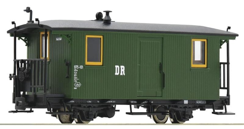 Schmalspur-Gepäckwagen grün der DR, Spur H0e