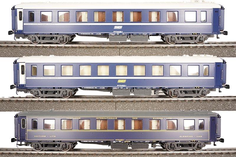 3tlg. Set Liegewagen WL F UIC der SNCF, DC, Spur H0