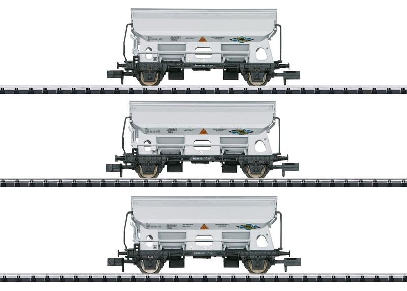 Güterwagen-Set Seitenentladewagen der NS, Minitrix Spur N