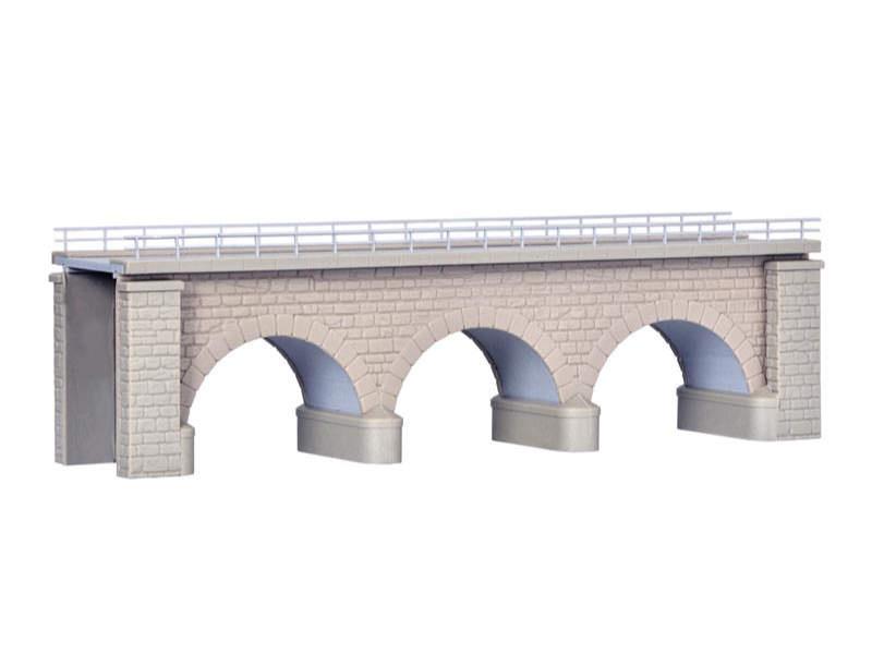 Erzberg-Brücke mit Eisbrecherpfeilern, eingleisig, Spur N/Z