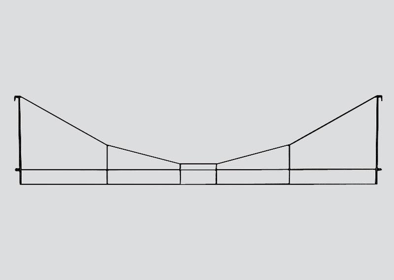 Querverbindung 123 mm Spur Z