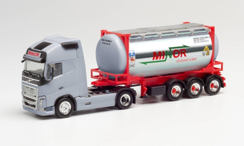 Volvo FH Gl. XL Swapcontainer-Sattelzug Minor, 1:87 / H0