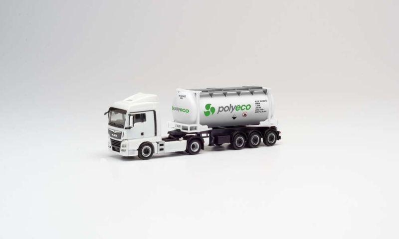 MAN TGX XLX Euro 6c Swapcontainer-Sattelzug Polyeco, H0