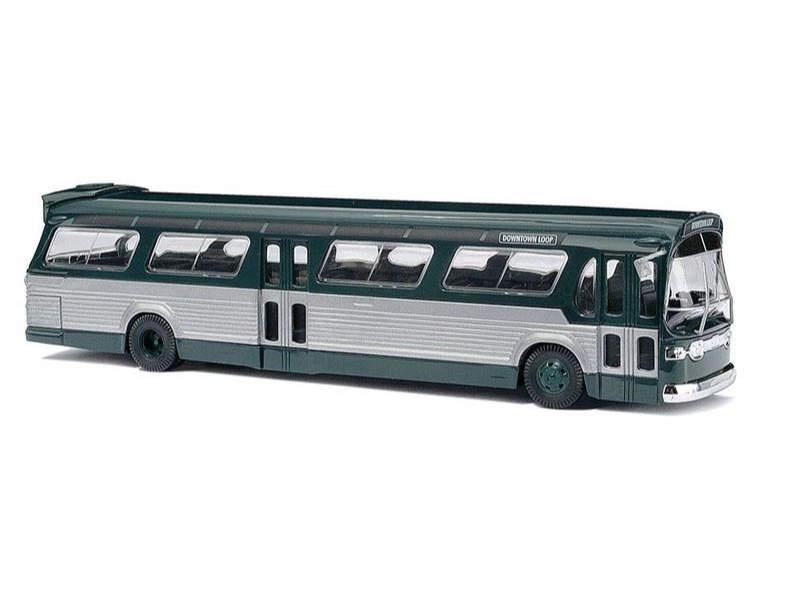 Amerikanischer Bus »Fishbowl«, grün, Spur H0