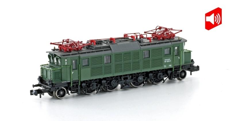 E-Lok E117 122-2 DB, Ep. IV, chromoxidgrün, Sound, DC Spur N