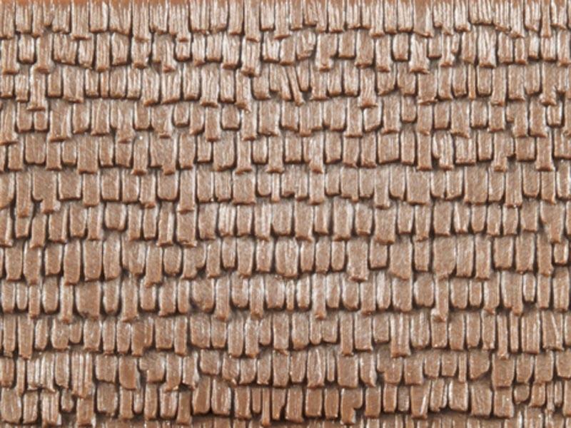 Dekorplatte Holzschindeln lose, Kunststoff, Spur H0/TT