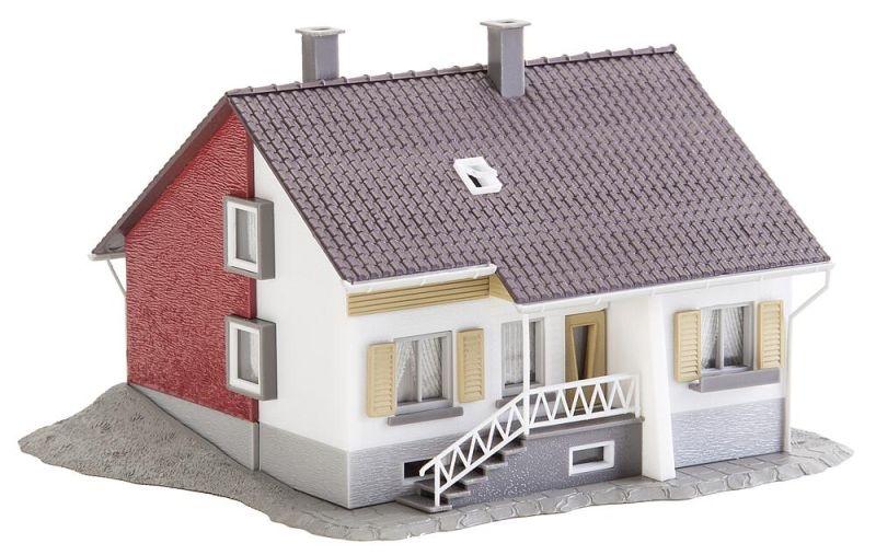 Wohnhaus mit Terrasse Bausatz, Spur H0
