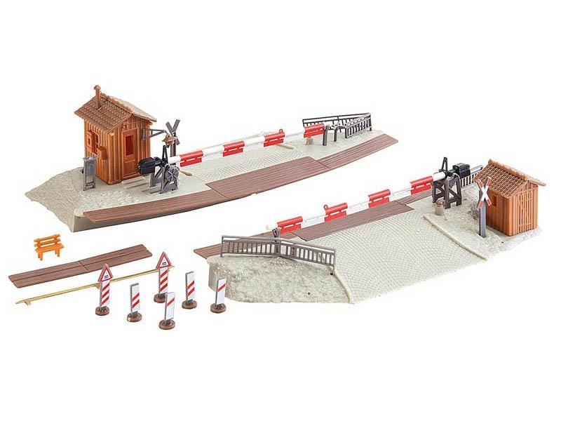 Beschrankter Bahnübergang Bausatz H0