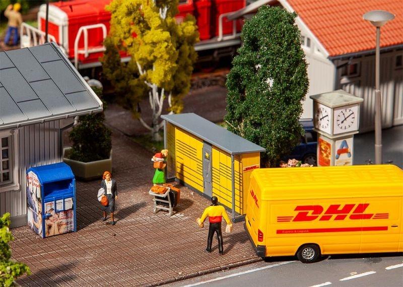 2 Packstationen DHL Bausatz, Spur H0