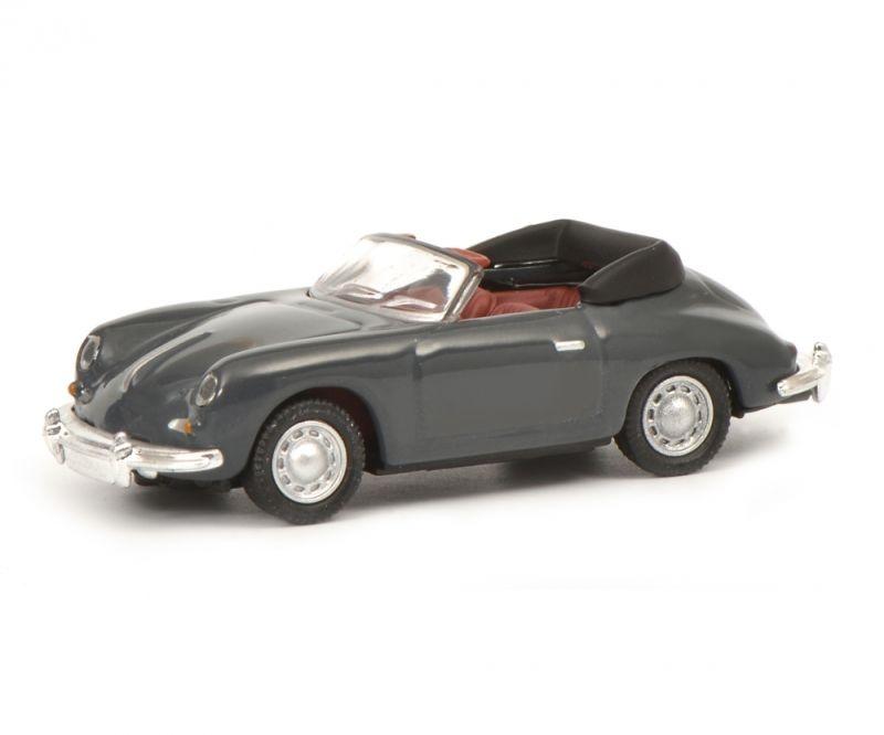 Porsche 356 Cabrio, grau, 1:87 / Spur H0