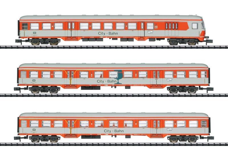 Personenwagen-Set City-Bahn der DB, Minitrix Spur N