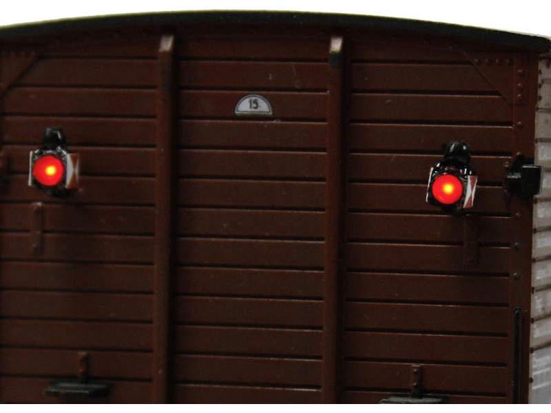 Zugschlusslaternen mit LED, 2 Stück, Spur H0