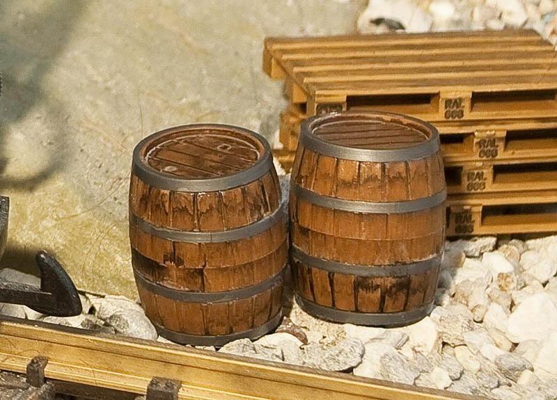 2 Holzfässer Bausatz G