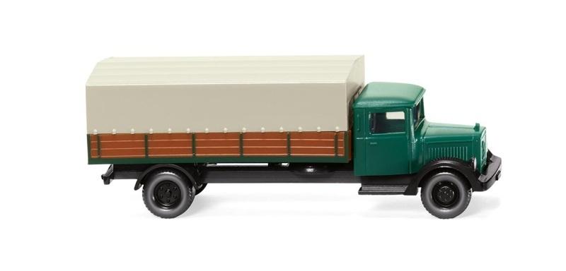 Pritschen-Lkw MB L 2500, kieferngrün, 1:160, Spur N