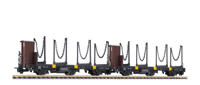 2-tlg. Set Schmalspurwagen mit Stahldrehrungen Jblm/s, H0e