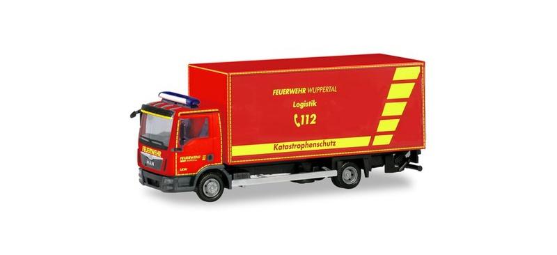 MAN TGL Euro6 Koffer-LKW mit Ladebordwand, 1:87 / H0