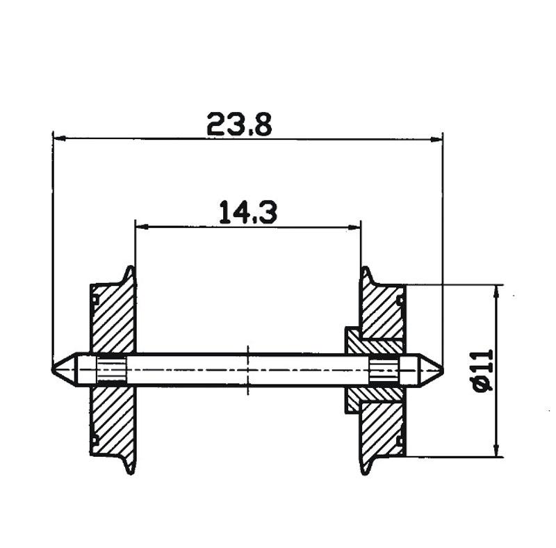 DC-NEM-Normradsatz 11mm H0