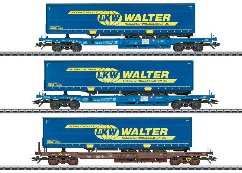 Taschenwagen-Set LKW Walter der T.R.W., AC, Spur H0