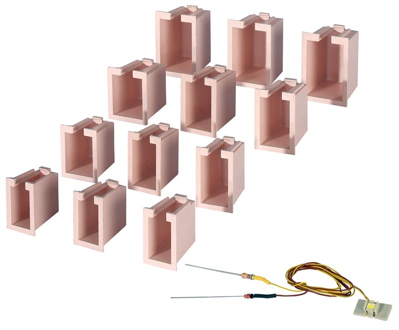 Hausbeleuchtungs-Startset, 12 Boxen, 1 LED weiß