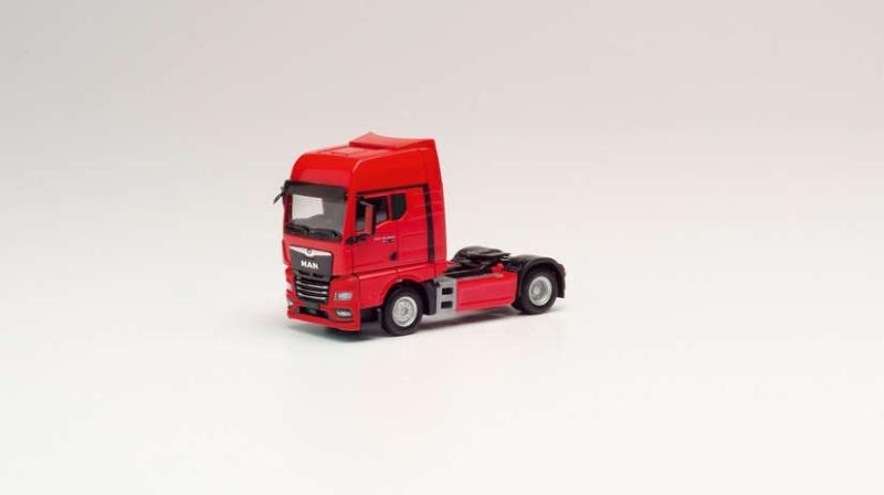 MAN TGX GX Zugmaschine, rot, 1:87 / Spur H0