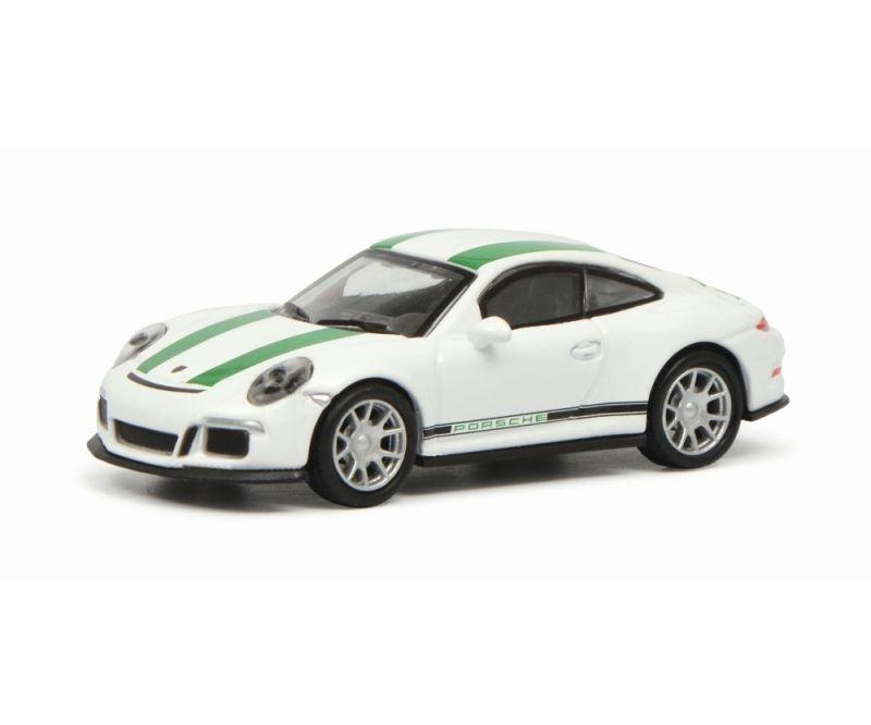 Porsche 911 R (991), weiß/grün 1:87 / Spur H0