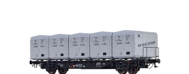 Behältertragwagen LBS-58 der DB, mit EKRT 212, Ep. III, H0