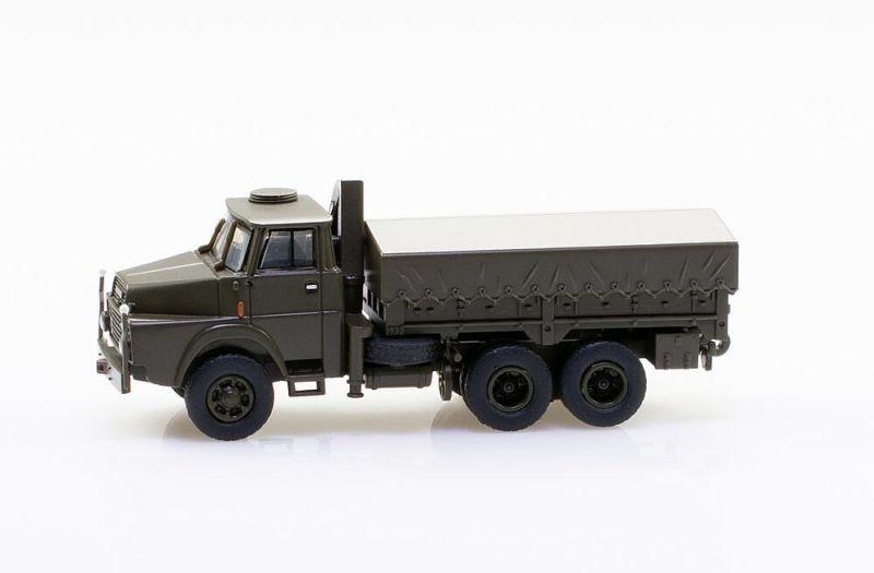 Henschel LKW HS 3-14 6x6 mit Hydraulik-Kran, 1:87 / Spur H0