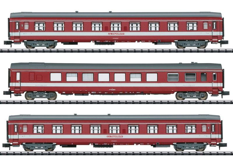Schnellzugwagen-Set Le Capitole der SNCF, Minitrix Spur N