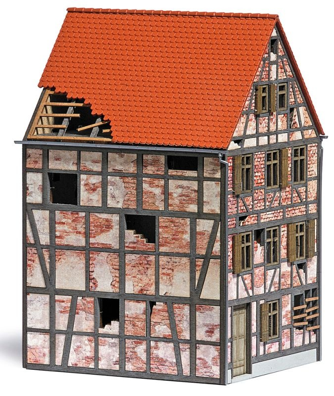 Verfallenes Stadthaus, Bausatz, Spur H0