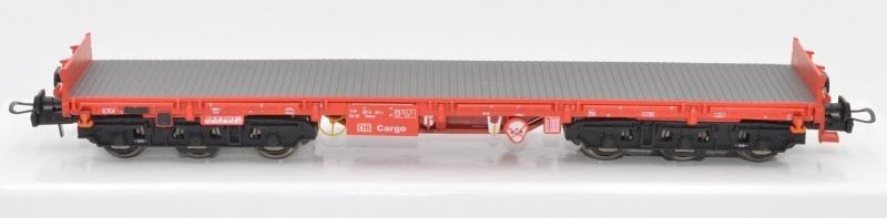 Schwerlastwagen Salmms 454, verkehrsrot, DB AG, DC, H0