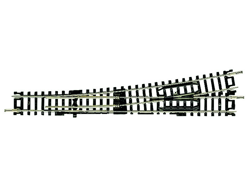 Unterflurweiche links 155 mm, 10° N-Gleis ohne Bettung