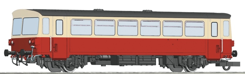 Beiwagen zum Motorwagen M 152.0 der CSD Spur H0