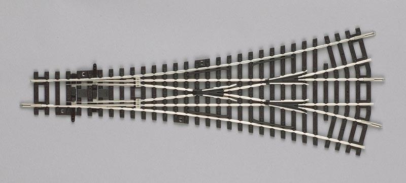 3-Wege Weiche W3, A-Gleis mit Holzschwelle, Spur H0