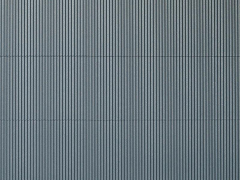 Dekorplatte Wellblech grau lose, Kunststoff, Spur H0 / TT