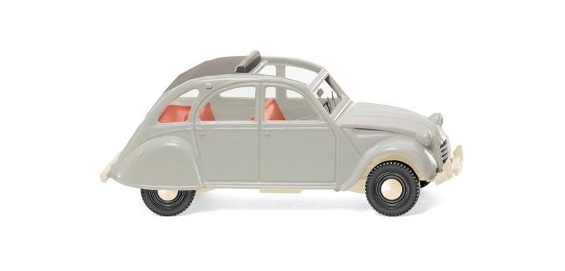 Citroën 2 CV - achatgrau, 1:87 / Spur H0