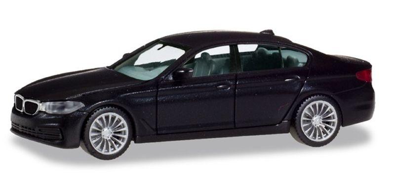 BMW 5er Limousine, schwarz, 1:87 / H0
