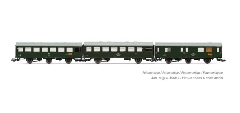 3-tlg. Set Reko-Wagen Propangaszug, DR, Ep. IV, Spur TT