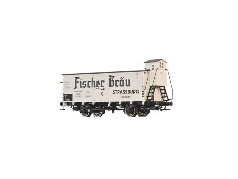 Gedeckter Güterwagen G Karlsruhe Fischer Bräu der DRG, H0