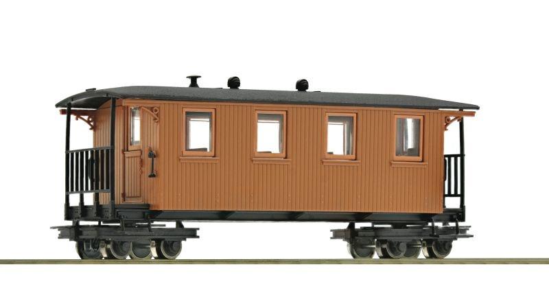 Waldbahn-Personenwagen 4a braun, Spur H0e