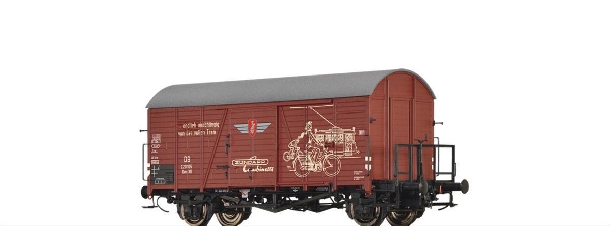 Gedeckter Güterwagen Gms 30 Zündapp der DB, DC, Spur H0