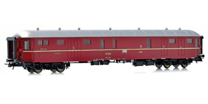 Topline Gepäck- und Schaffnerwagen DF37 21304 der NSB, H0