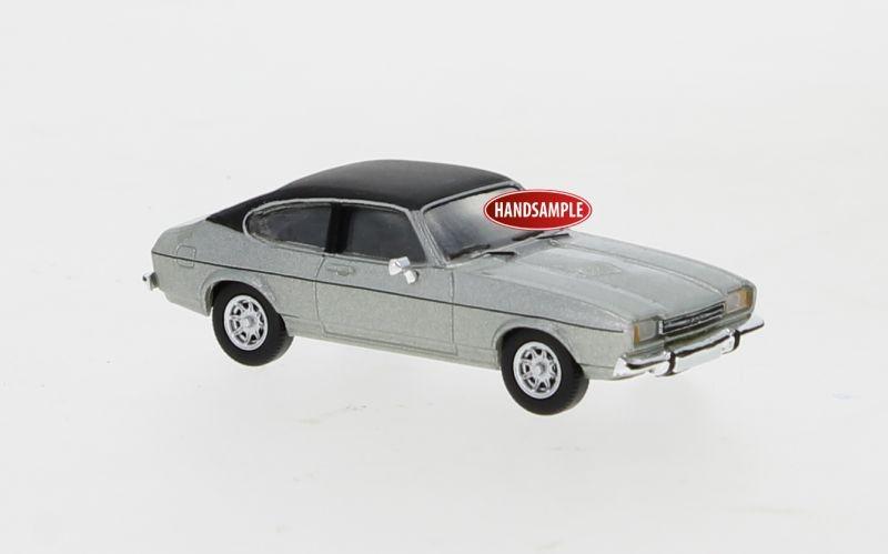 Ford Capri MK II silber, matt schwarz, 1974, 1:87 / Spur H0