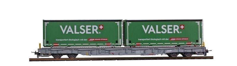 RhB R-w 8380 Tragwagen mit Wechselpritsche Valser, H0m