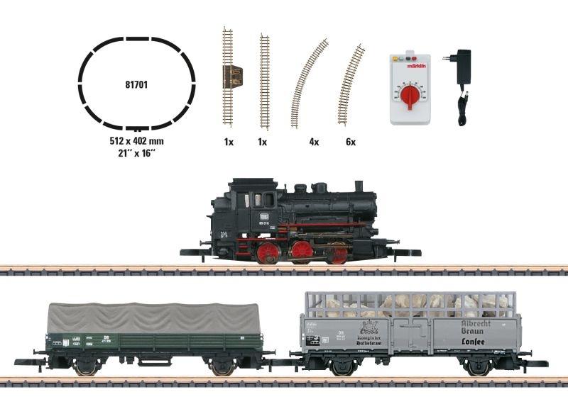 Startpackung Güterzug BR 89 1x Lok, 3x Wagen DB Spur Z