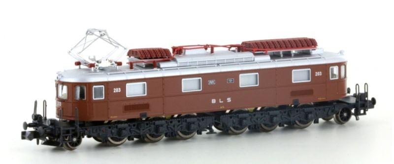 E-Lok Ae 6/8 BLS 8-achsig 203 braun, Ep. IV, Spur N